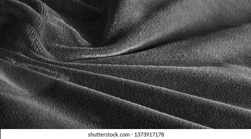 Picture. Texture, background. Velvet gray fabric,. Panne nap adds shimmer and texture! It was a lot to create stylish loungewear, your projects will be successful.