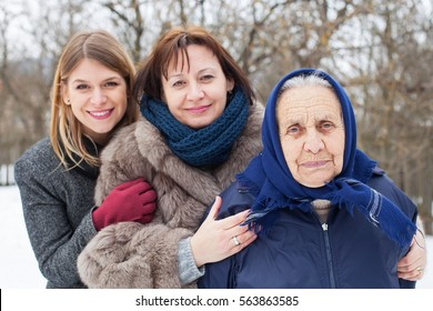 Picture of three generations of beautiful female