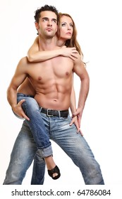 picture of a topless couple