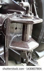 Picture of tractor hitch. Hitch.