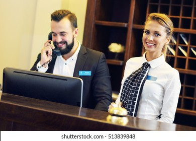 Picture of two receptionists at work