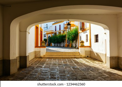 picture of an underpass leading to the Plaza de Toros in Seville, Spain