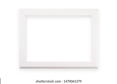 Picture white frame  isolated on white background