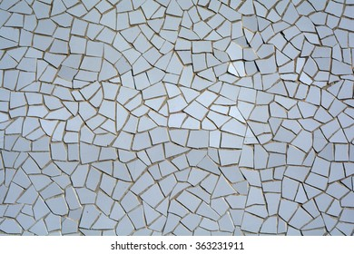 A picture of white mosaic tiles