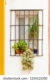 picture of a window of an old house in Seville, Spain