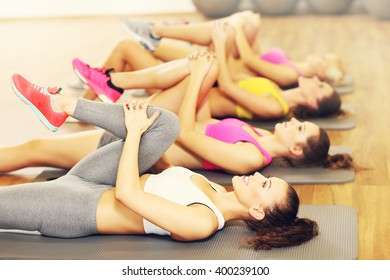 Picture of women group stretching in gym
