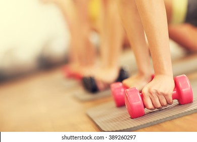 Picture of women group working out in gym
