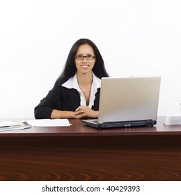 picture of a young businesswoman working in office