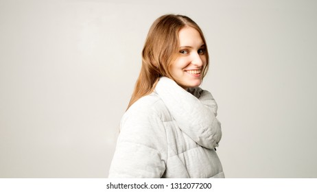 picture of young good-looking teenage girl isolated
