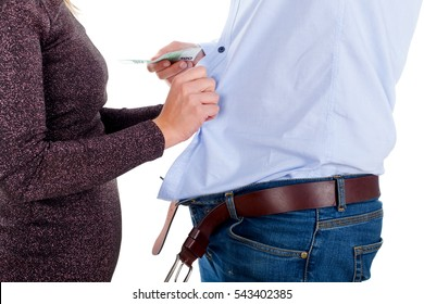 Picture of a young man paying for sex