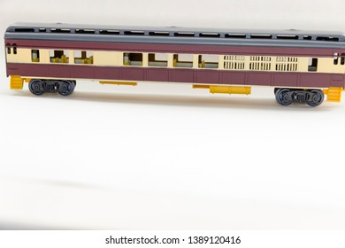 pictured in the photo plastic cars toy train on a light background