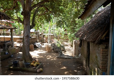Pictures of an ancient indonesian village in Bali island