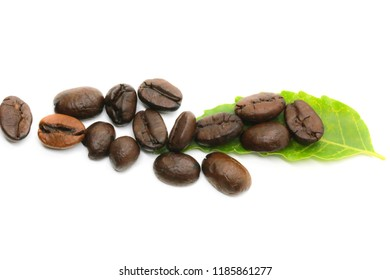 Pictures of coffee beans taken in a macro