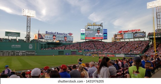 Pictures from Fenway Park in Boston
