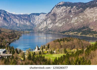 A pictures of Lake Bohinj, Slovenia.