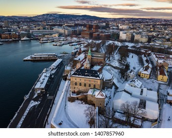 Pictures of Oslo city (Norway) during winter  (day and night)