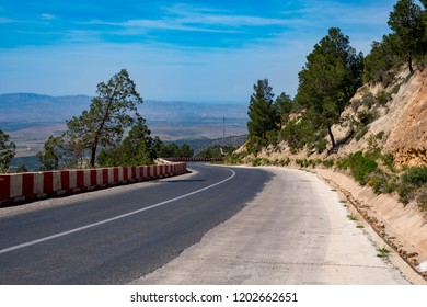 Pictures showcasing the varied landscape in Morocco. Pictures from different regions in Morocco: Zegzel, Volubilis, Zerhoun, Taourirt.