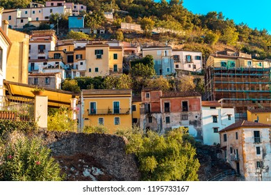 Pictures of the wonderful city Maratea with a statue of Jesus at the south of Italy.