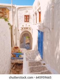 picturesque alley in a Mediterranean island