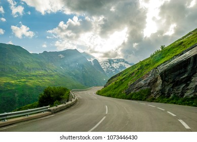 Picturesque Alp's road