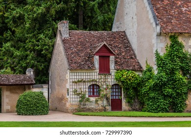 Picturesque ancient Building in garden near Chateau de Chenonceau. . The Chateau de Chenonceau is located in Chenonceau near Amboise in the Loire Valley. France.