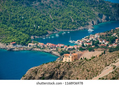 Picturesque Assos village in Kefalonia ionian island in Greece
