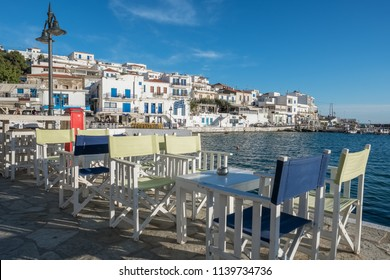 Picturesque Batsi village on  Andros island, Cyclades, Greece