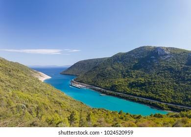 Picturesque bay in the Adriatic Sea