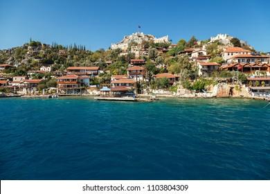 Picturesque bay of Kekova Island, Turkey's Kemer October 14, 2017