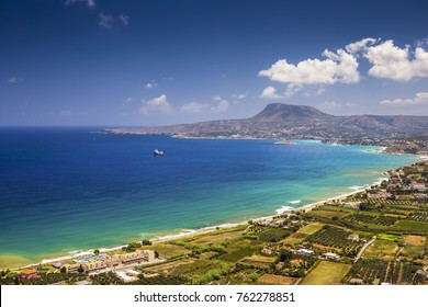 Picturesque bay on Crete island near Chania, Greece