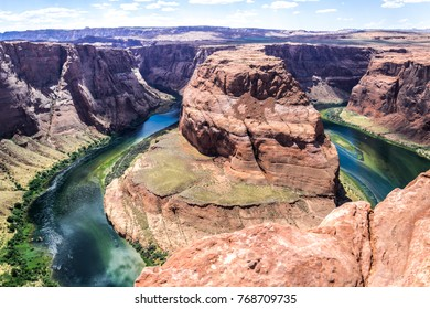Picturesque bend of the Colorado River