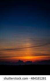 Picturesque Blue Orange Sunset Clouds