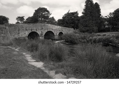 A picturesque bridge in the English countryside