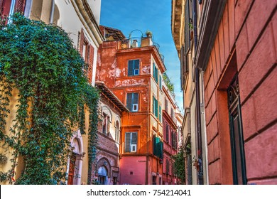 Picturesque buildings in Rome, Italy