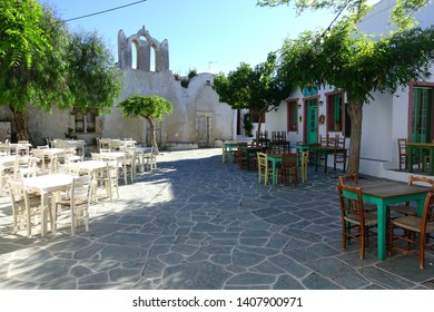 Picturesque church in traditional beautiful island of Folegandros, Cyclades, Greece