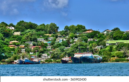 the picturesque city of Castries in Saint Lucia in caribbean