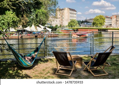 Picturesque city idyll in Wroclaw, Poland