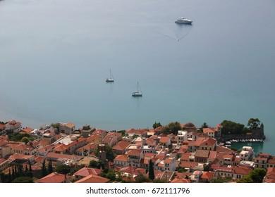picturesque coast city in the mediterranean sea