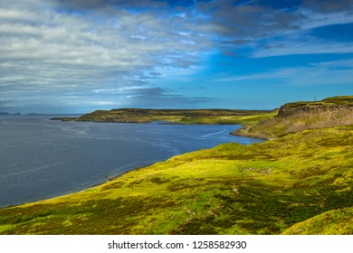 Picturesque Coastal Landscape Near Uig On The Isle Of Skye In Scotland