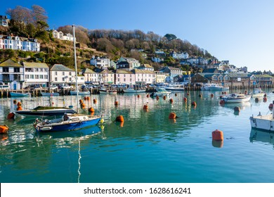 The  picturesque coastal town of Looe Cornwall England UK Europe