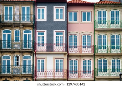 Picturesque colorful houses in Porto