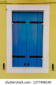 Picturesque Colorful Yellow and Blue Window