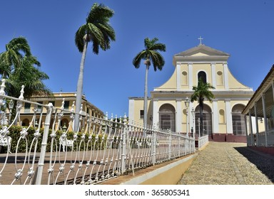 Picturesque elements of traditional architecture,. Colourful houses of the Trinidad, Cuba