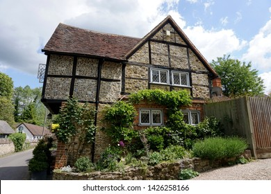 Picturesque English Country Cottage in Shere, Guildford, England, UK