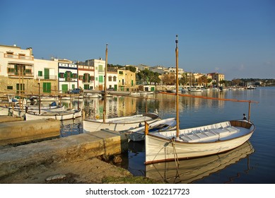 Picturesque fishermen village in Porto Colom (Majorca - Balearic Islands - Spain)