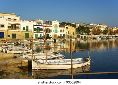 Picturesque fishermen village in Porto Colom (Majorca - Balearic Islands - Spain)