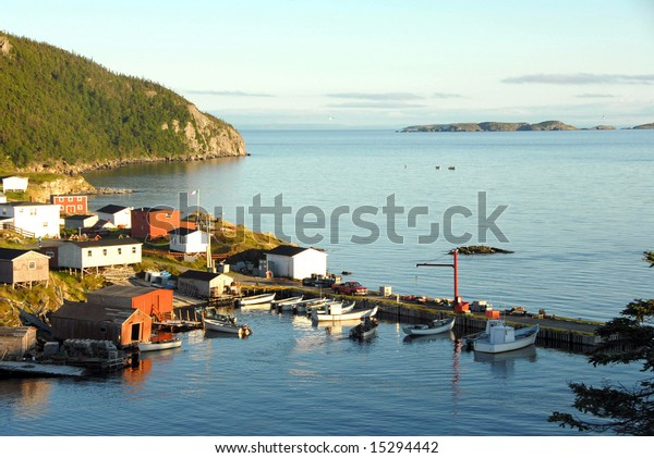 Picturesque fishing village in Newfoundland