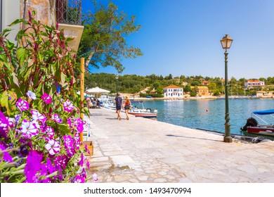 Picturesque Fiskardo village in Kefalonia island, Greece