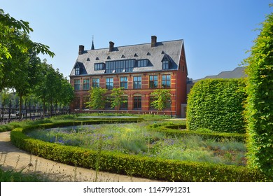 picturesque garden near the  Rijksmuseum, Amsterdam, Netherlands