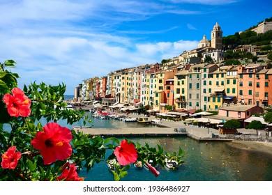 picturesque harbor of Porto Venere, Italian Riviera, Liguria,.